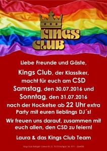 CSD 2016 Kings Club