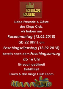 Fasching Kings 20181